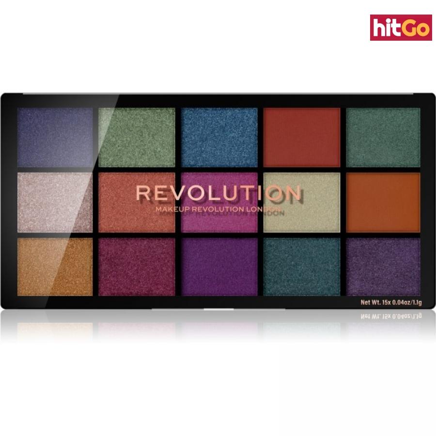 Makeup Revolution Reloaded paleta očních stínů odstín Passion for Colour 15 x 1,1 g dámské 15 x 1,1 g