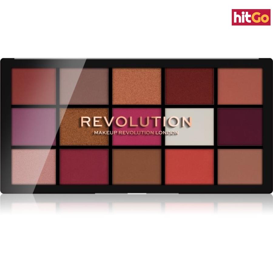 Makeup Revolution Reloaded paleta očních stínů odstín Red Alert 15 x 1,1 g dámské 15 x 1,1 g