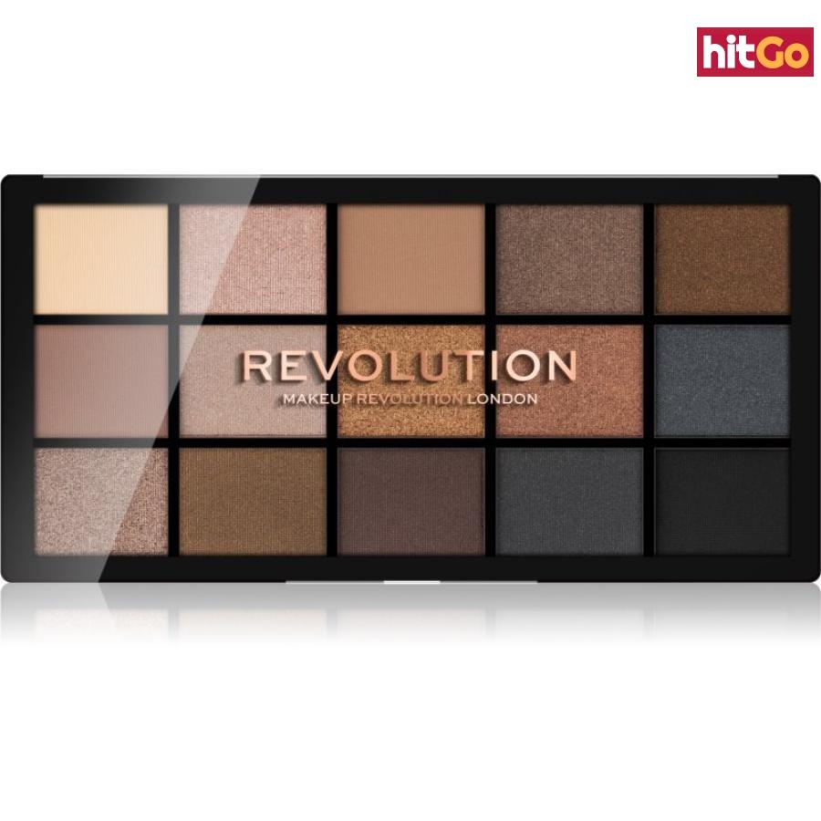 Makeup Revolution Reloaded paleta očních stínů odstín Smoky Neutrals 15 x 1,1 g dámské 15 x 1,1 g