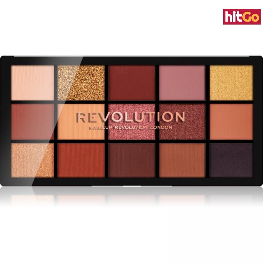 Makeup Revolution Reloaded paleta očních stínů odstín Velvet Rose 15 x 1,1 g dámské 15 x 1,1 g