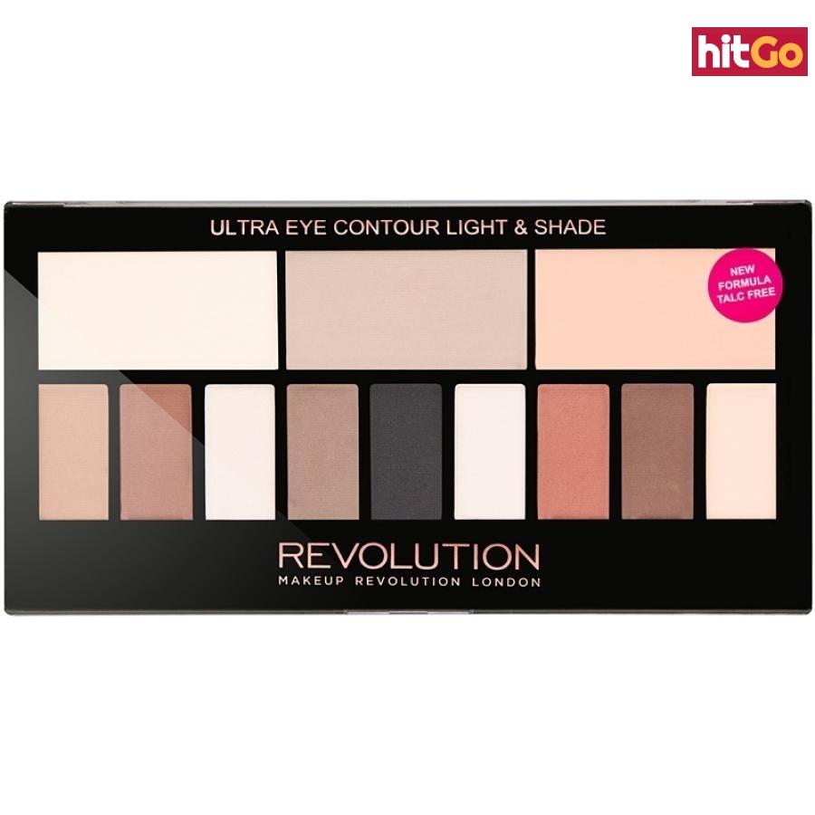 Makeup Revolution Ultra Eye Contour konturovací paletka na oči odstín Light & Shade 14 g dámské 14 g
