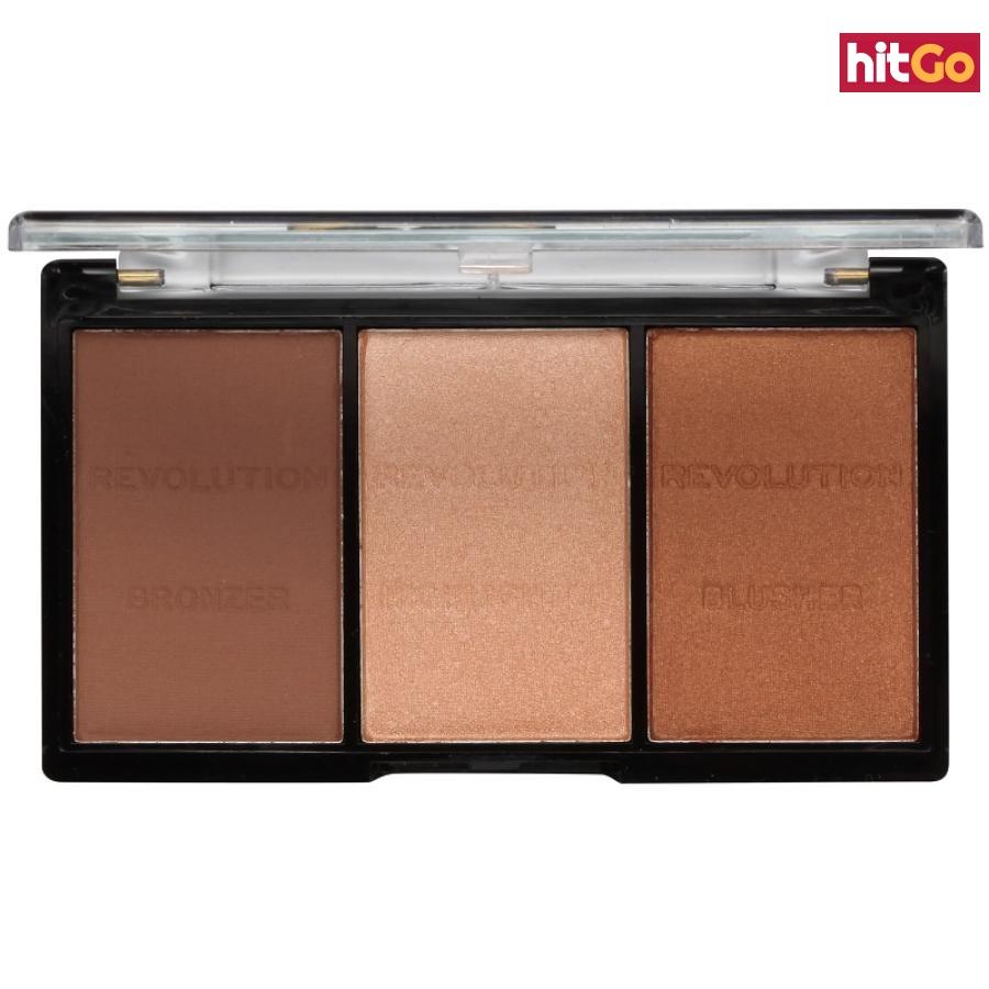 Makeup Revolution Ultra Sculpt & Contour paleta na kontury obličeje odstín 04 Ultra Ligt/Medium 11 g dámské 11 g