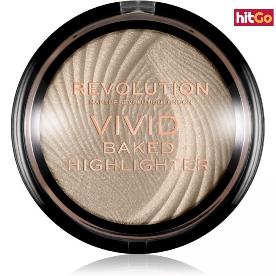 Makeup Revolution Vivid Baked zapečený rozjasňující pudr odstín Golden Lights 7,5 g dámské 7,5 g