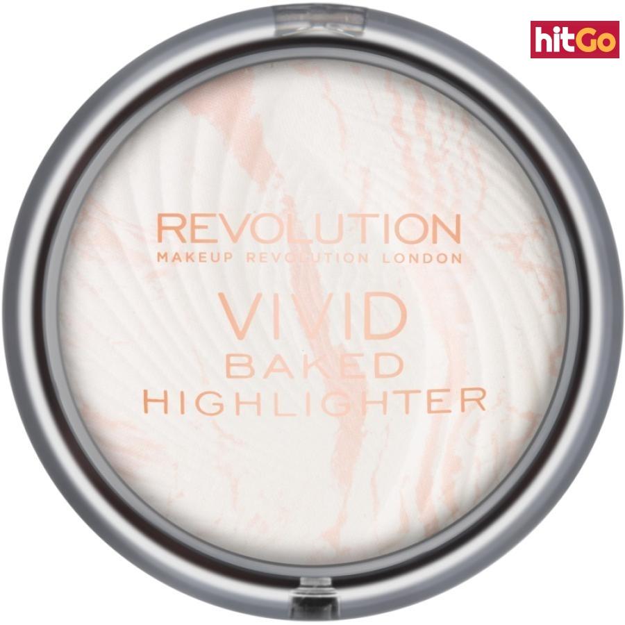 Makeup Revolution Vivid Baked zapečený rozjasňující pudr odstín Matte Lights 7,5 g dámské 7,5 g