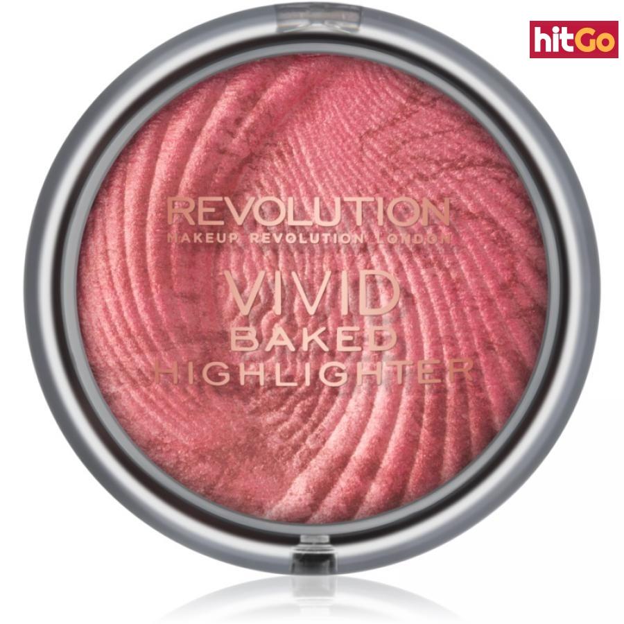 Makeup Revolution Vivid Baked zapečený rozjasňující pudr odstín Rose Gold Lights 7,5 g dámské 7,5 g