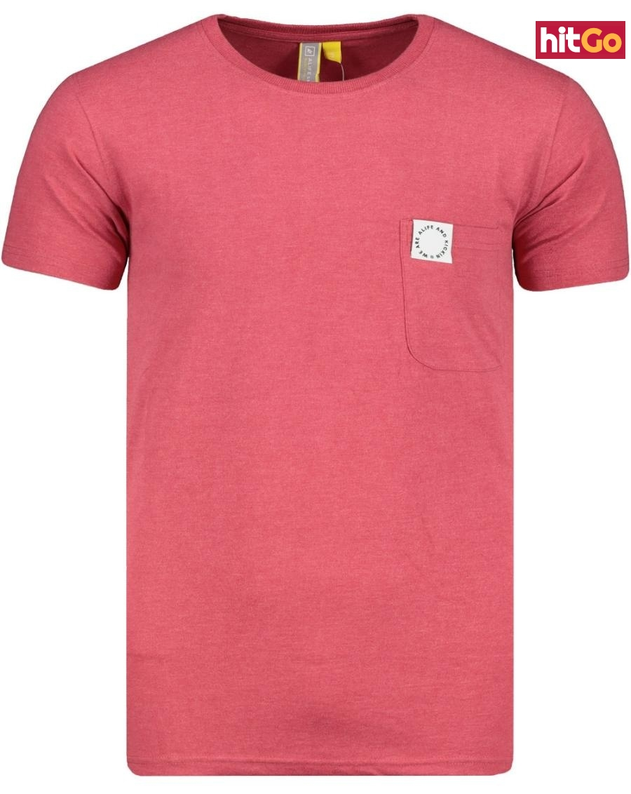 Mens T-shirt  Alife and Kickin Logo Pocket pánské Cranberry XL