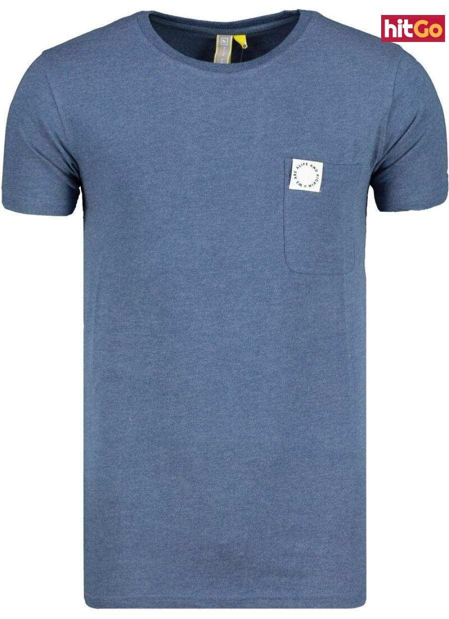 Mens T-shirt  Alife and Kickin Logo Pocket pánské Indigo XL