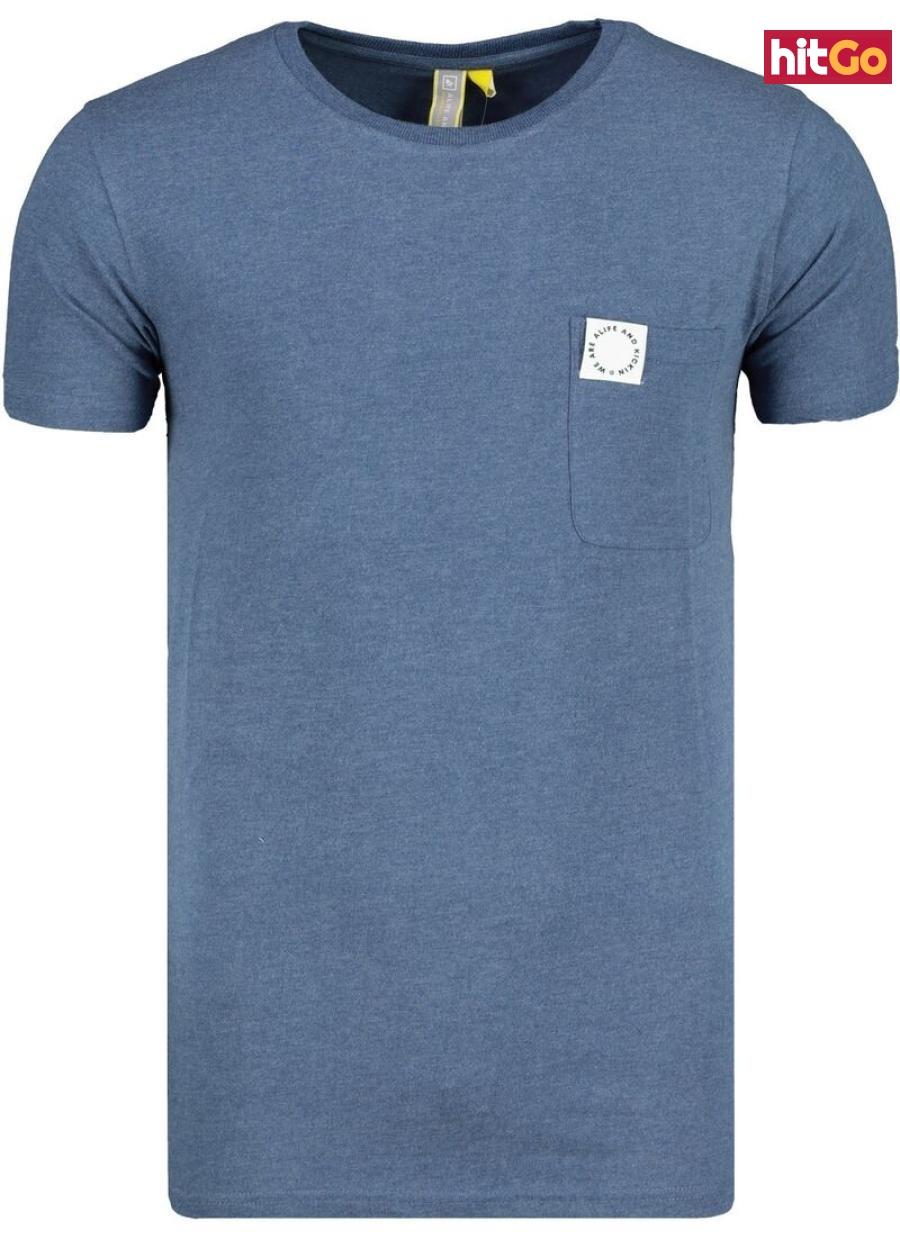 Mens T-shirt  Alife and Kickin Logo Pocket pánské Indigo XXL