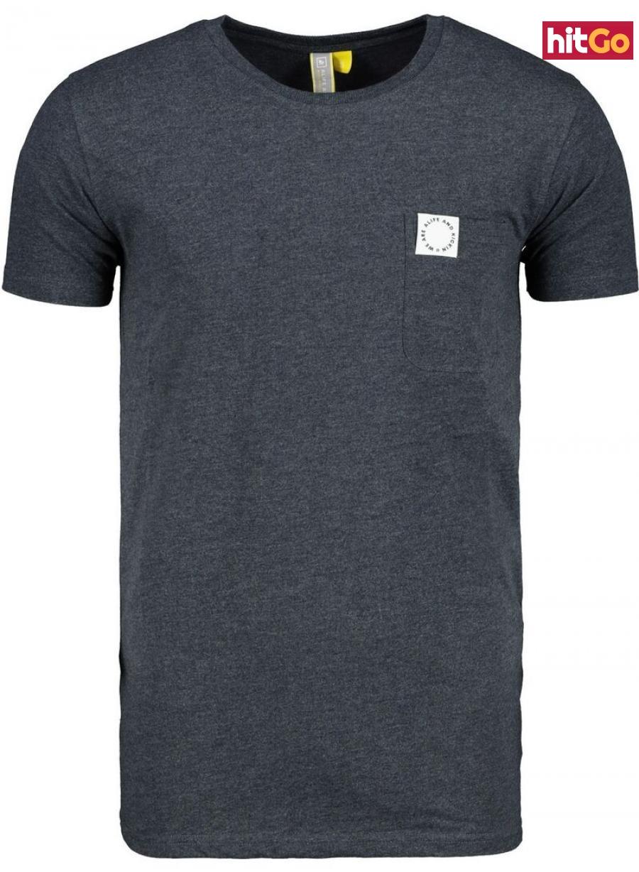Mens T-shirt  Alife and Kickin Logo Pocket pánské Marine XL