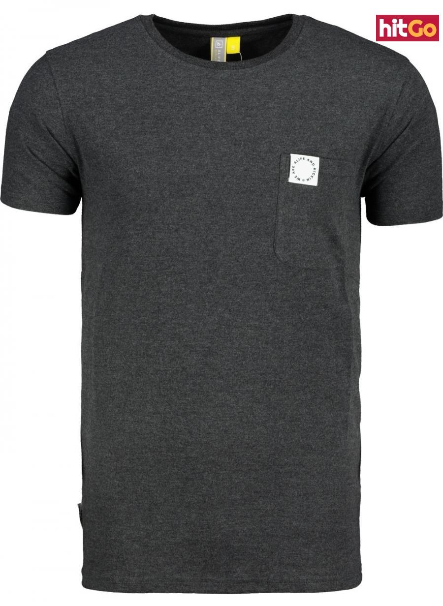 Mens T-shirt  Alife and Kickin Logo Pocket pánské Moonless L