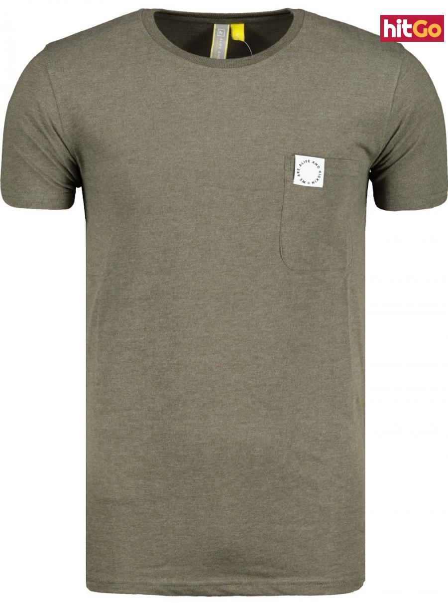 Mens T-shirt  Alife and Kickin Logo Pocket pánské Stone M