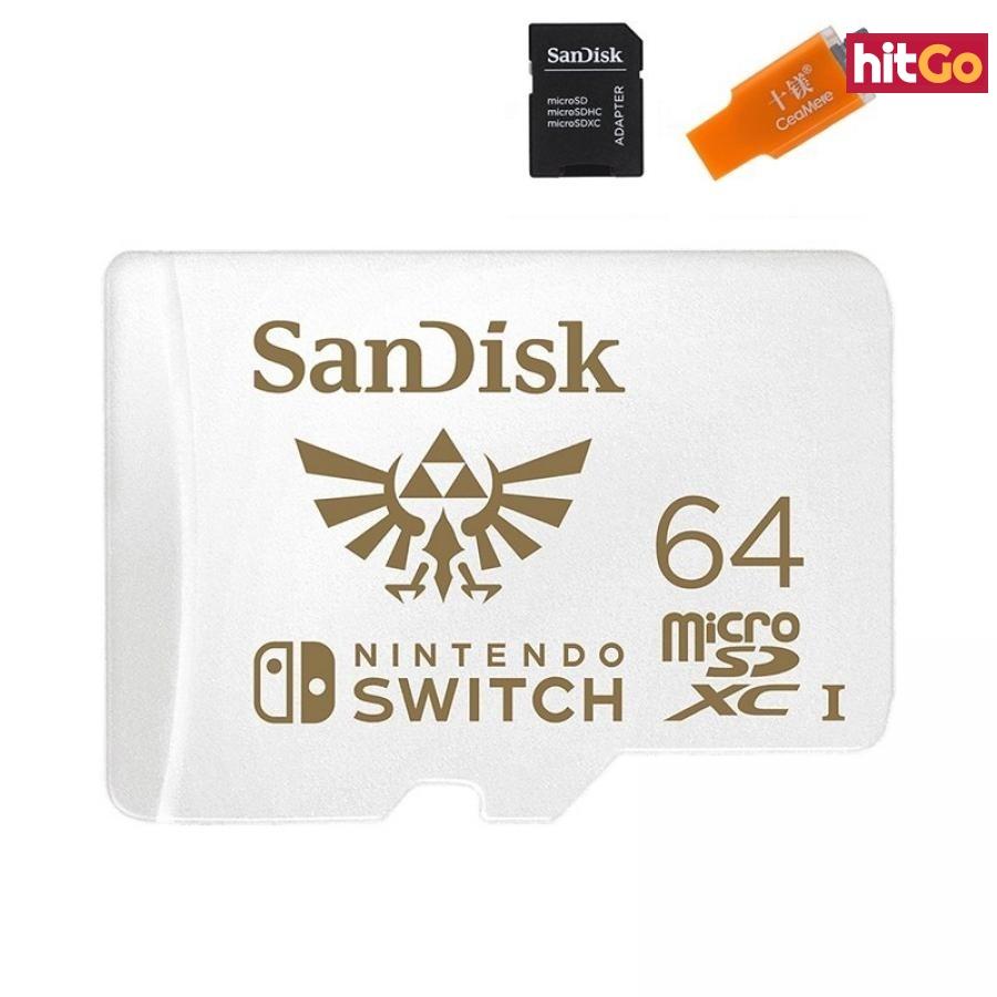 Micro SDXC paměťová karta pro Nintendo Switch Velikost: 64GB