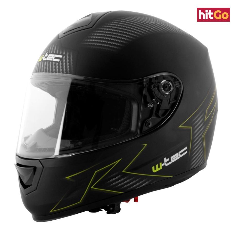 Moto Helma W-Tec V159  Black Elementor Green  M