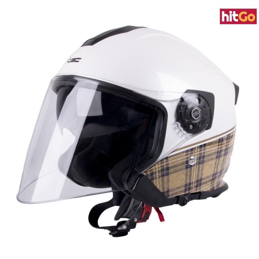 Moto Helma W-Tec V586  Bílá Perleť  S