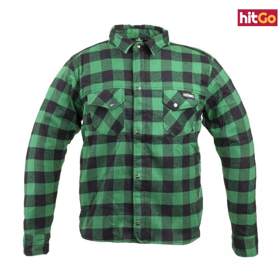 Moto Košile W-Tec Terchis  Xxxl  Zelená XXXL