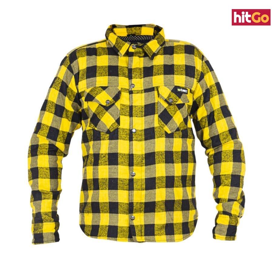 Moto Košile W-Tec Terchis  Žlutá  Xxxl XXXL