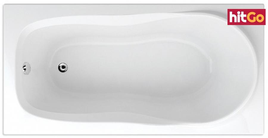 Obdélníková vana Teiko Alea 140x70 cm akrylát V112140N04T01001 bílá bílá