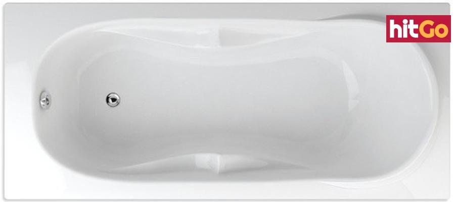 Obdélníková vana Teiko Canaria 170x75 cm akrylát V112170N04T02001 bílá bílá