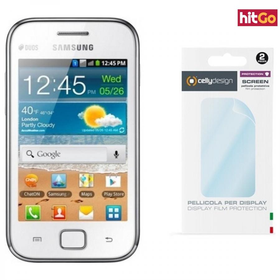 Ochranná folie displeje CELLY Screen Protector pro Samsung Galaxy Ace Duos, lesklá, 2ks