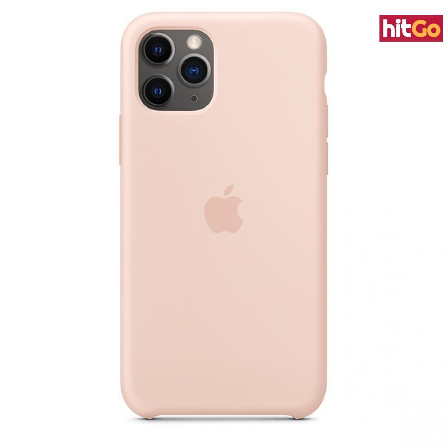 Originální silikonový kryt Apple iPhone 11 Pro Max pink sand