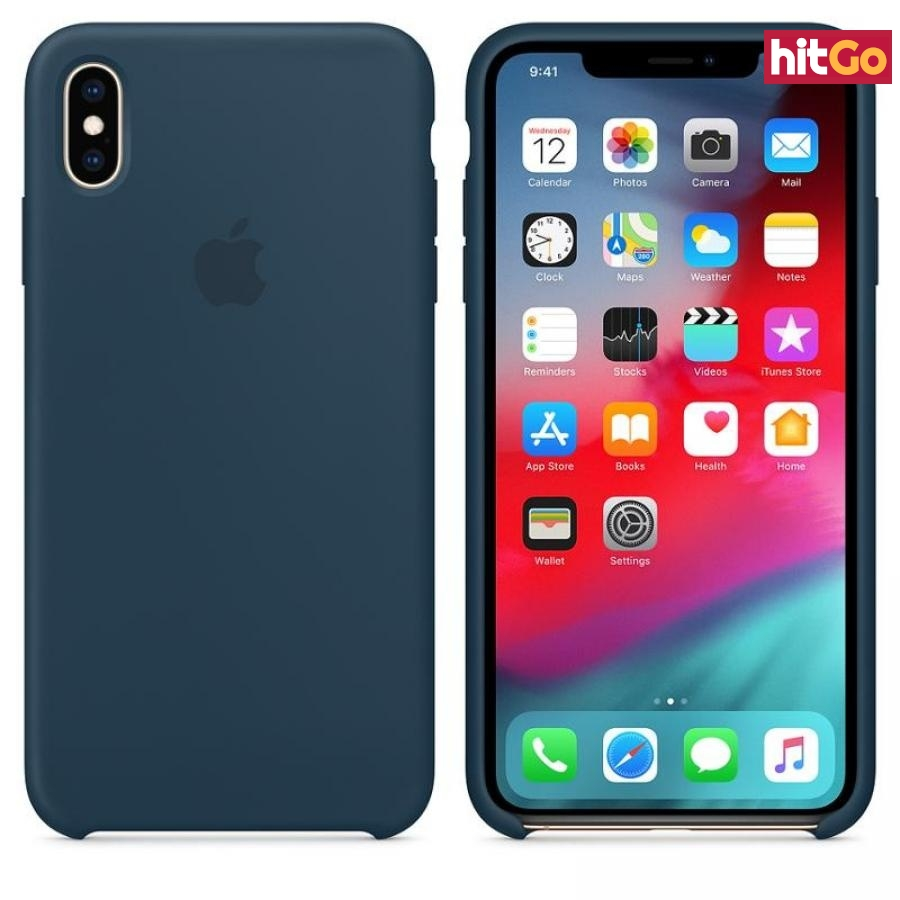 Originální silikonový kryt MUJQ2ZM/A Apple iPhone XS Max pacific green