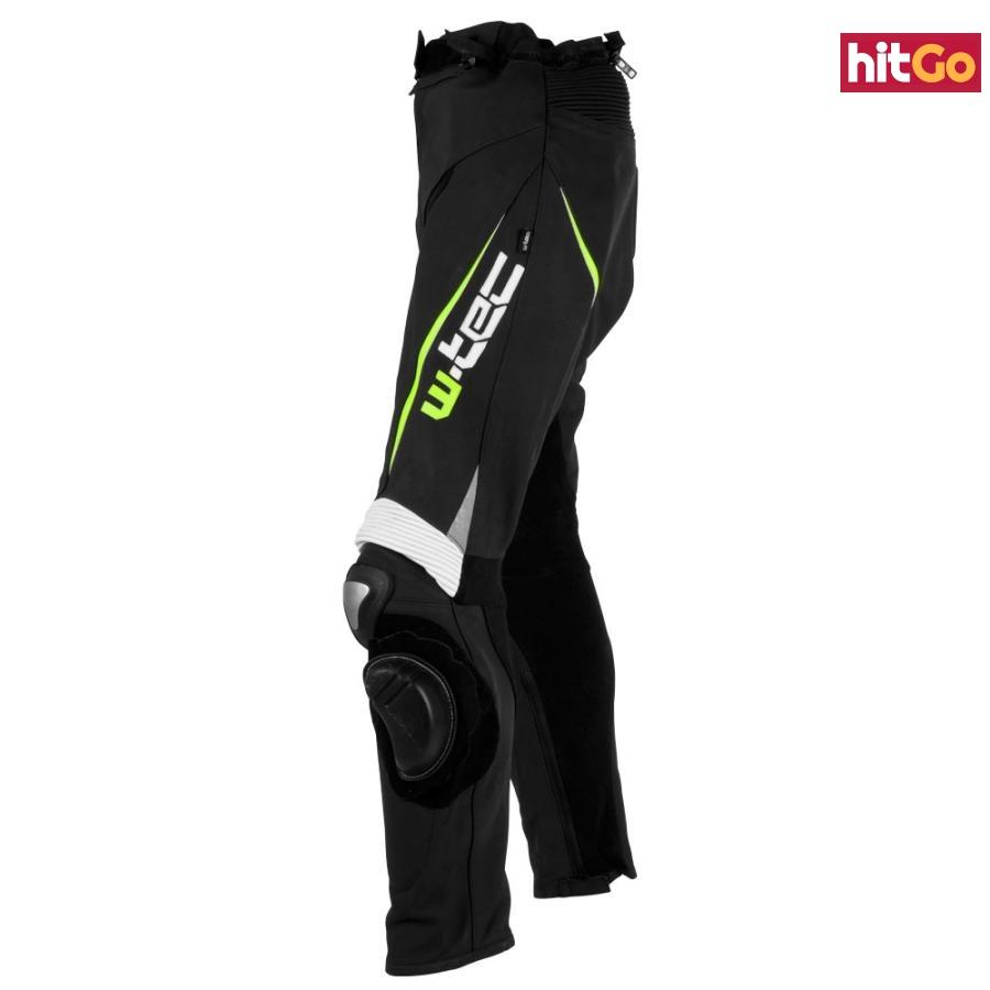 Pánské Kožené Moto Kalhoty W-Tec Vector  Černo-Modrá  2Xl 2XL