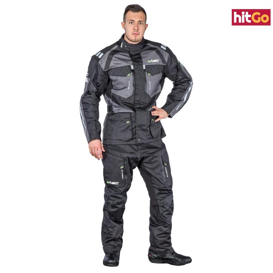 Pánské Moto Kalhoty W-Tec Kaluzza Gs-1614  Černá  M M