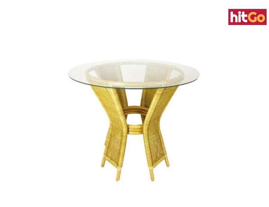 Ratanový jídelní stůl UNI, světlý