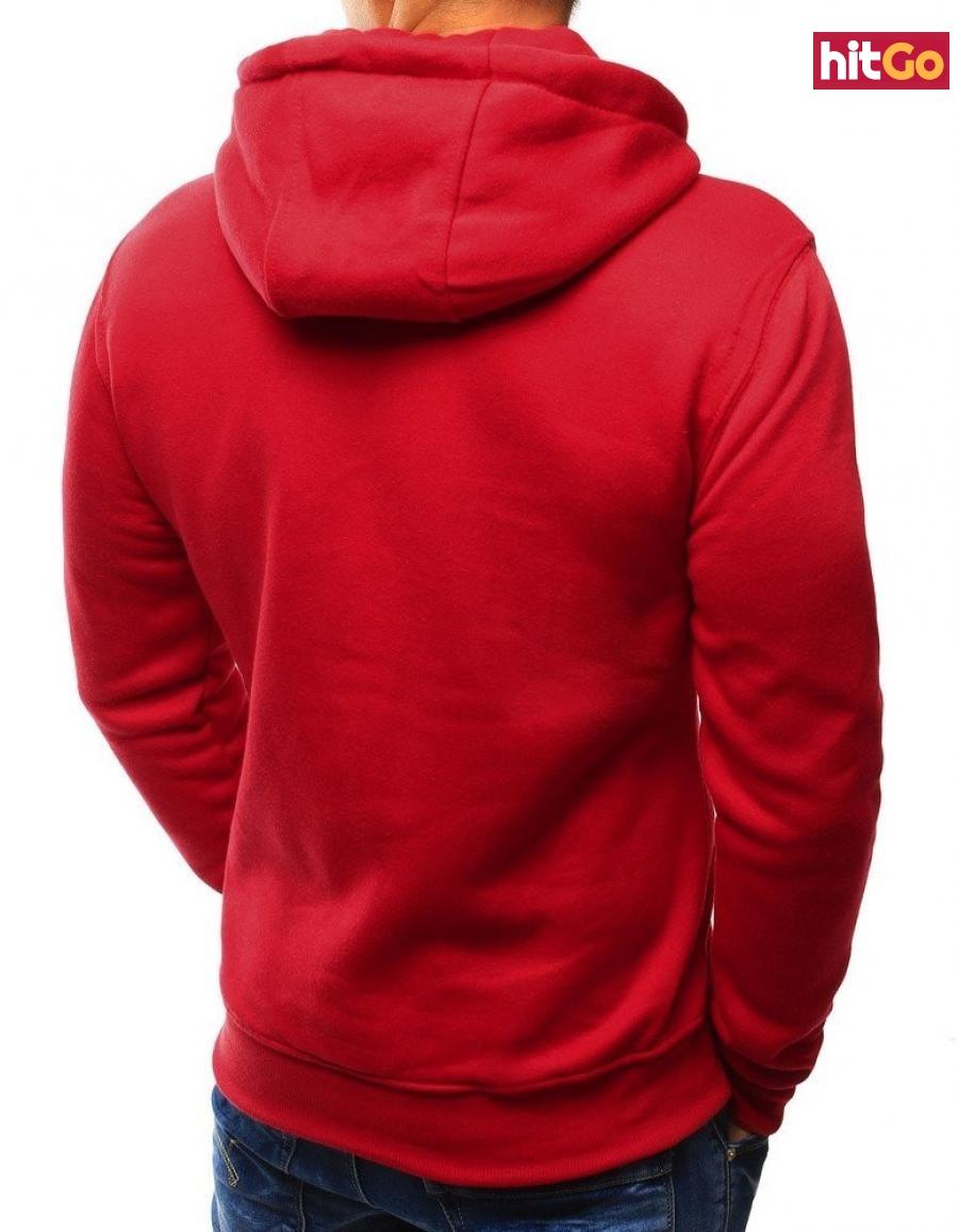 Red mens hoodie BX3020 pánské Neurčeno L