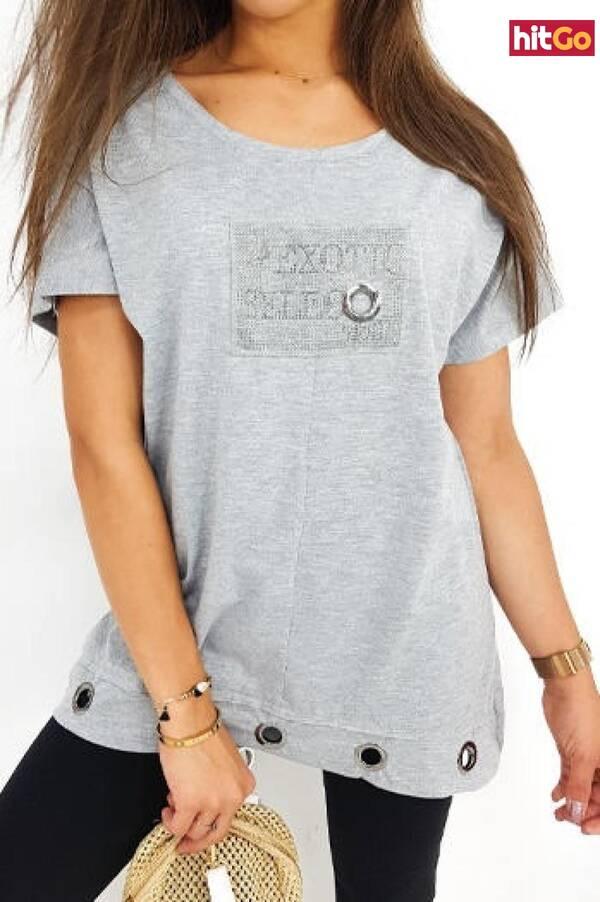 SELECT womens blouse gray RY1332 dámské Neurčeno S