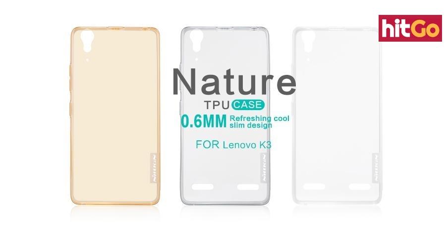 Silikonové pouzdro Nillkin Nature na Lenovo A6000 hnědé