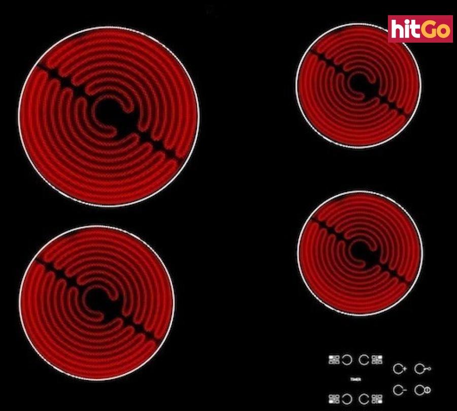 Sklokeramická varná deska Whirlpool černá AKT8090NE černá černá