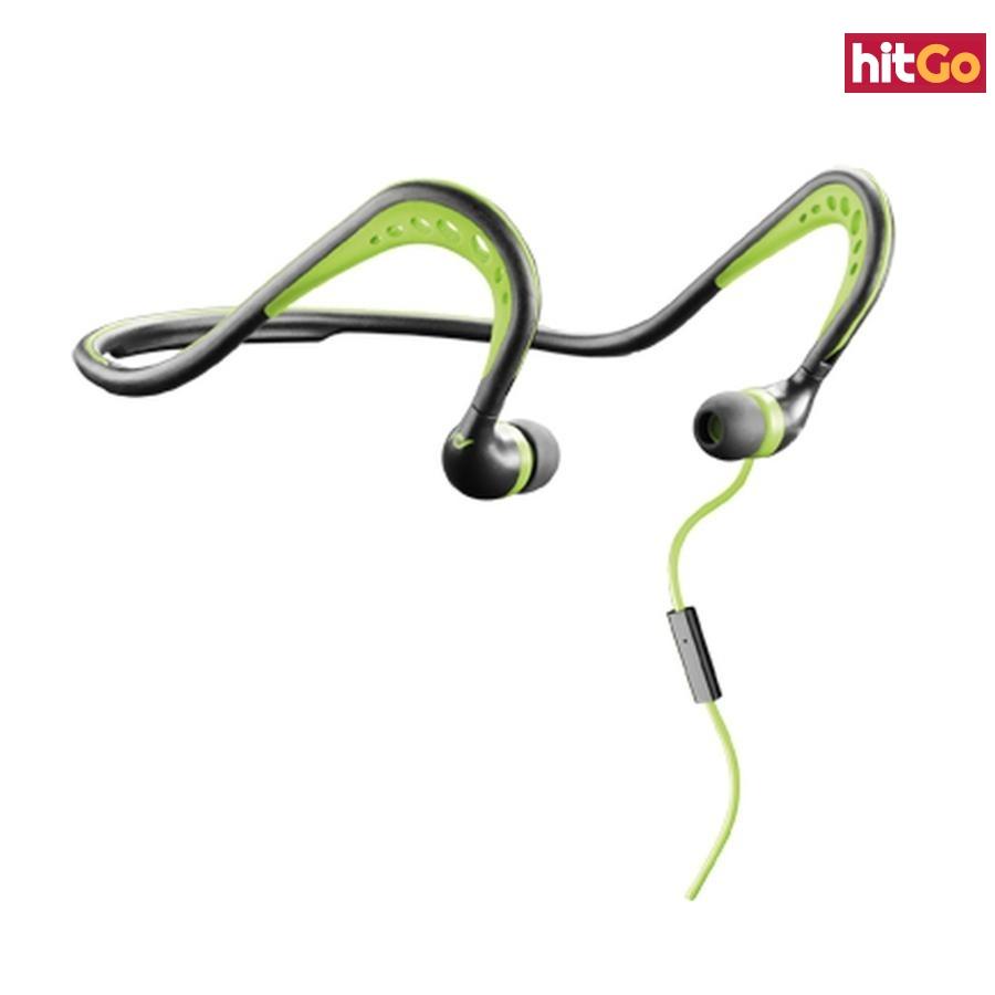Sportovní sluchátka CellularLine SCORPION, černo-zelená