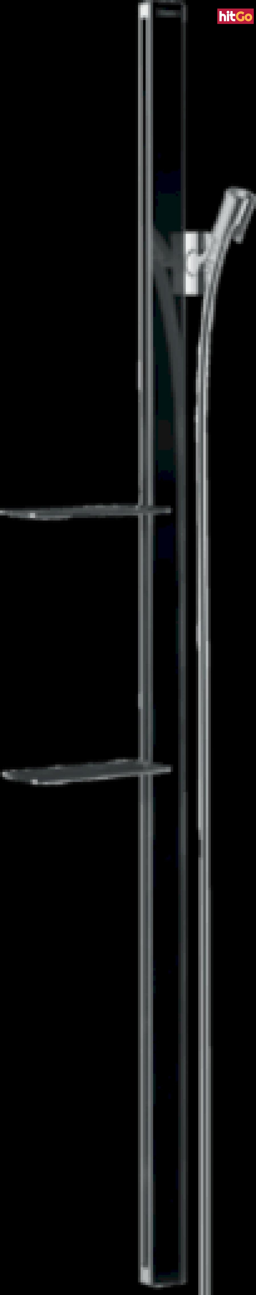 Sprchová tyč Hansgrohe Unica se sprchovou hadicí černá/chrom 27645600 ostatní černá