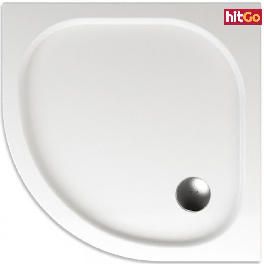 Sprchová vanička čtvrtkruhová Teiko Capella 80x80 cm akrylát V131080N32T05001 bílá bílá
