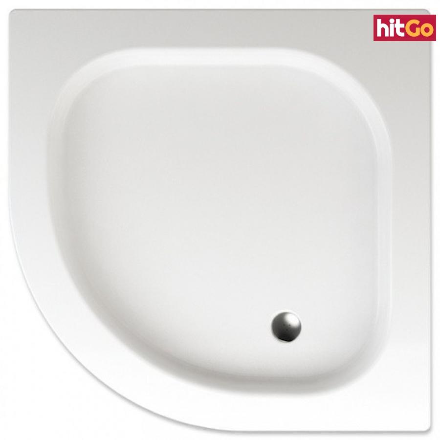 Sprchová vanička čtvrtkruhová Teiko Flores 90x90 cm akrylát V131090N32T04001 bílá bílá