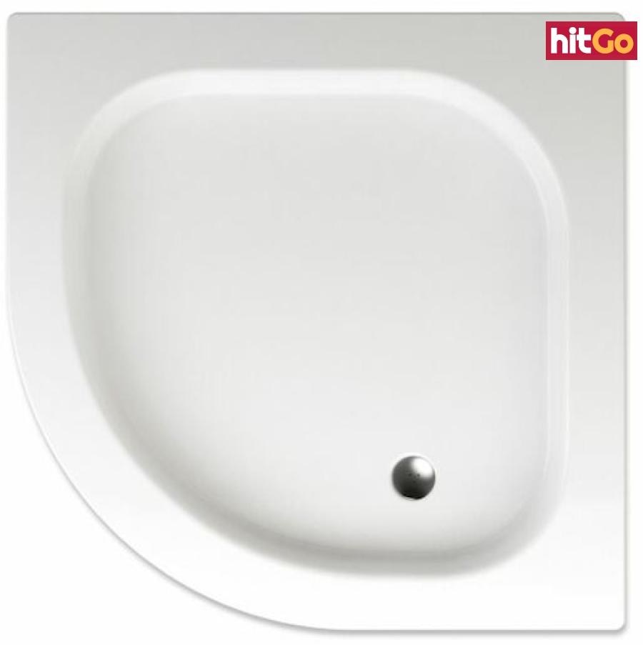 Sprchová vanička čtvrtkruhová Teiko Flores 90x90 cm akrylát V131090N32T05001 bílá bílá