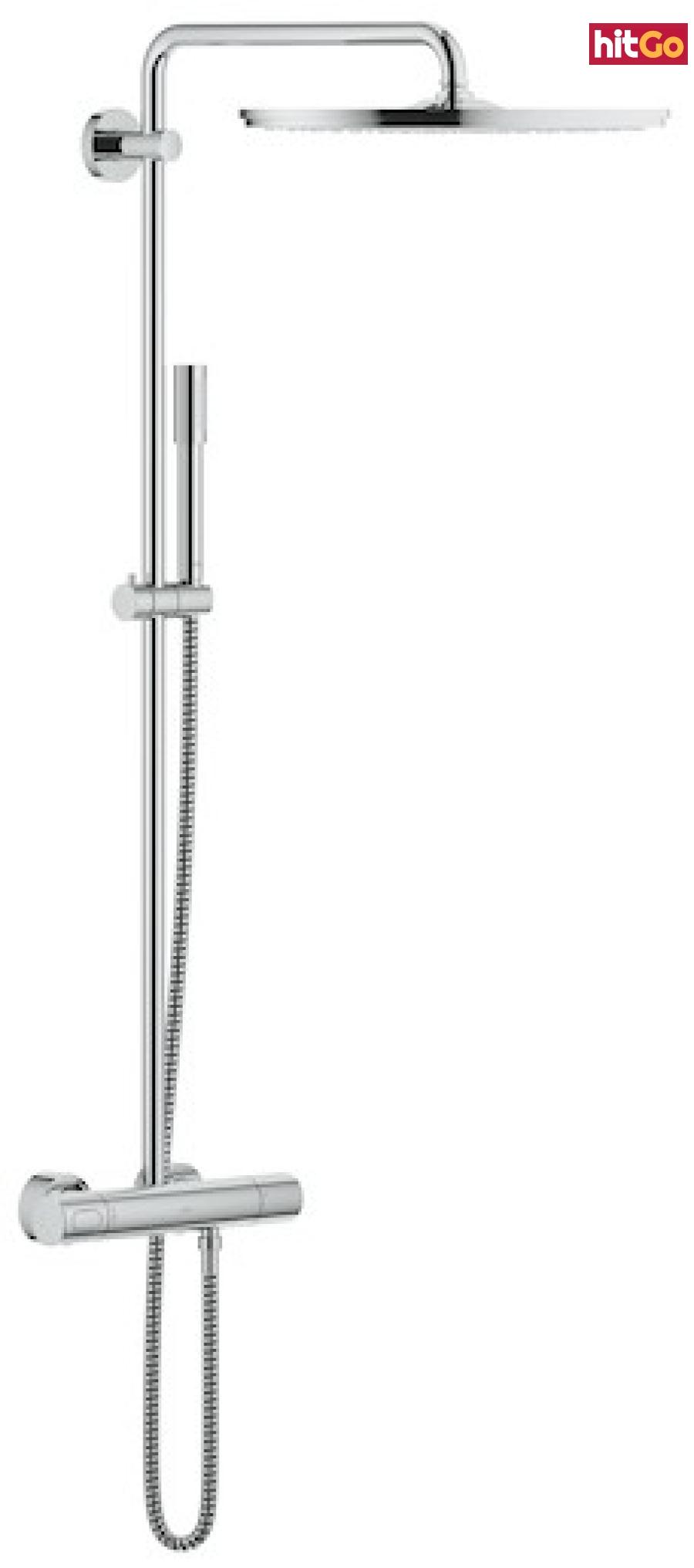 Sprchový systém Grohe Rainshower System s termostatickou baterií chrom 27174001 chrom chrom