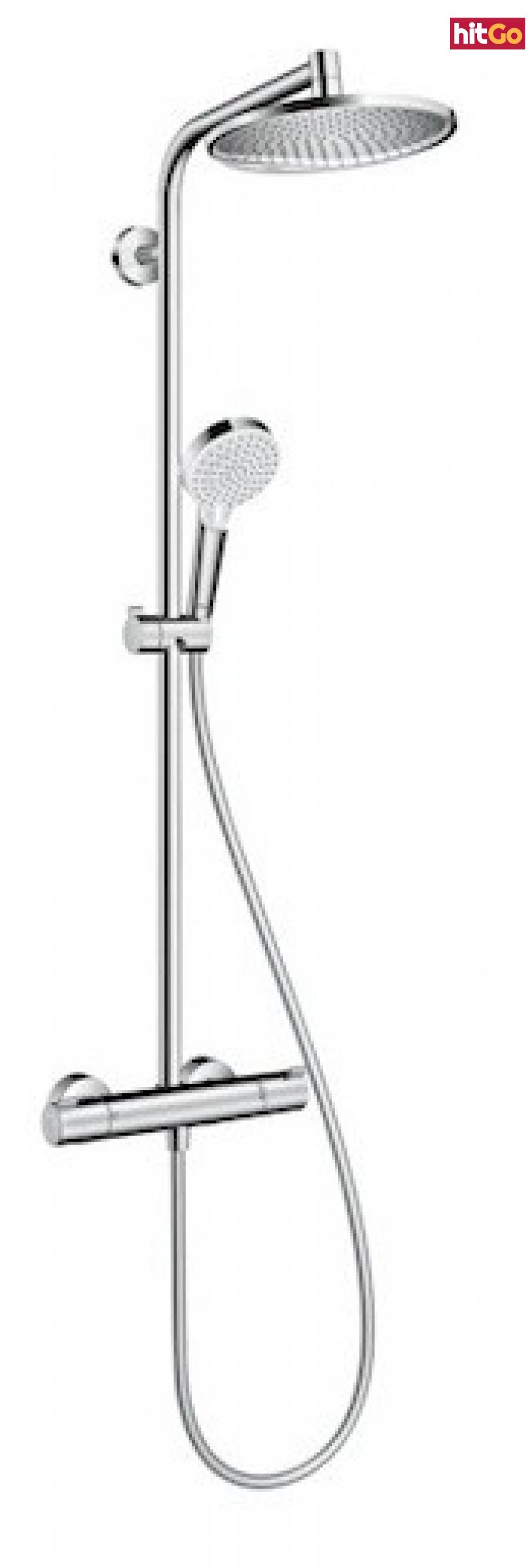 Sprchový systém Hansgrohe Crometta S na stěnu s termostatickou baterií chrom 27267000 chrom chrom