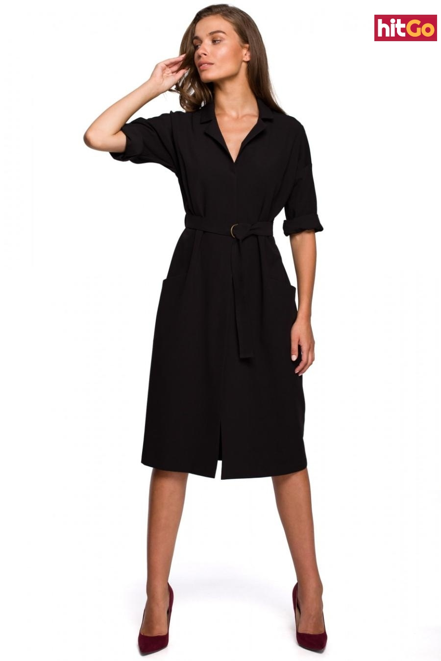 Stylove Womans Dress S230 dámské Black M