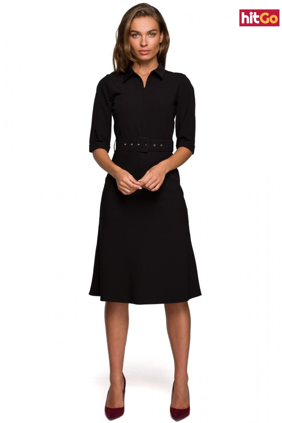 Stylove Womans Dress S231 dámské Black XL