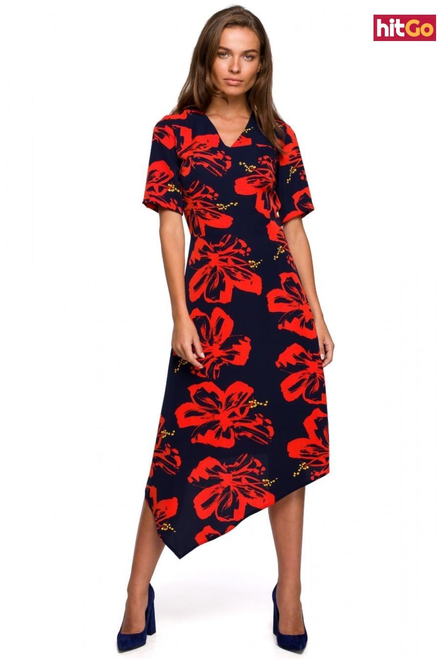 Stylove Womans Dress S232 Model 1 dámské wzorzysty M