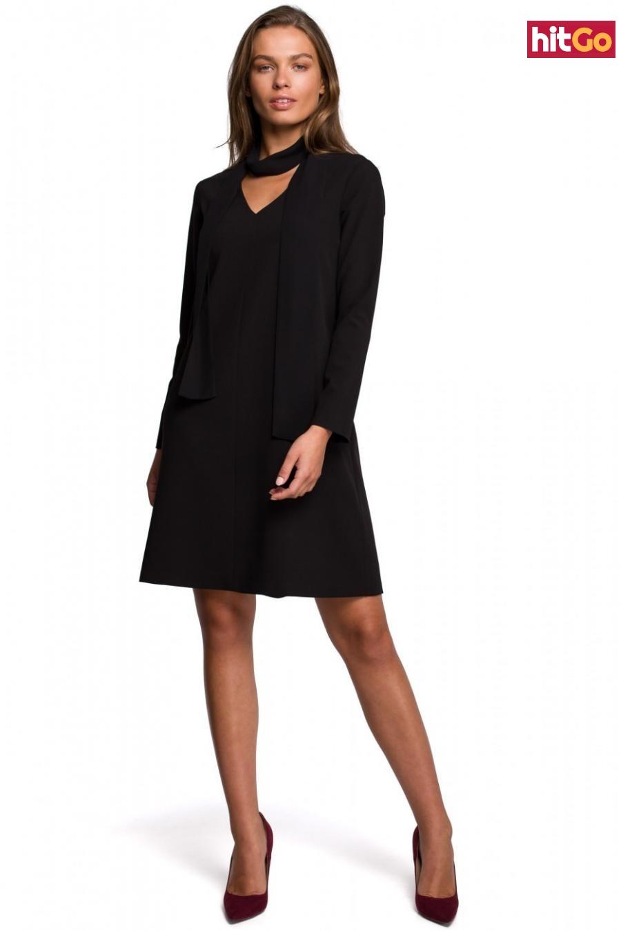 Stylove Womans Dress S233 dámské Black XL