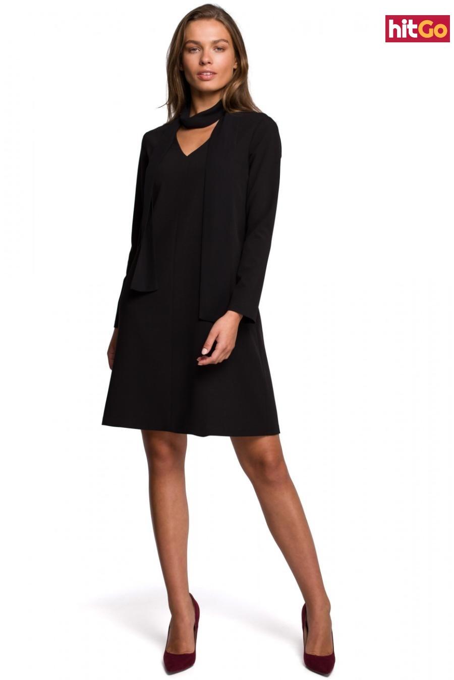 Stylove Womans Dress S233 dámské Black XXL