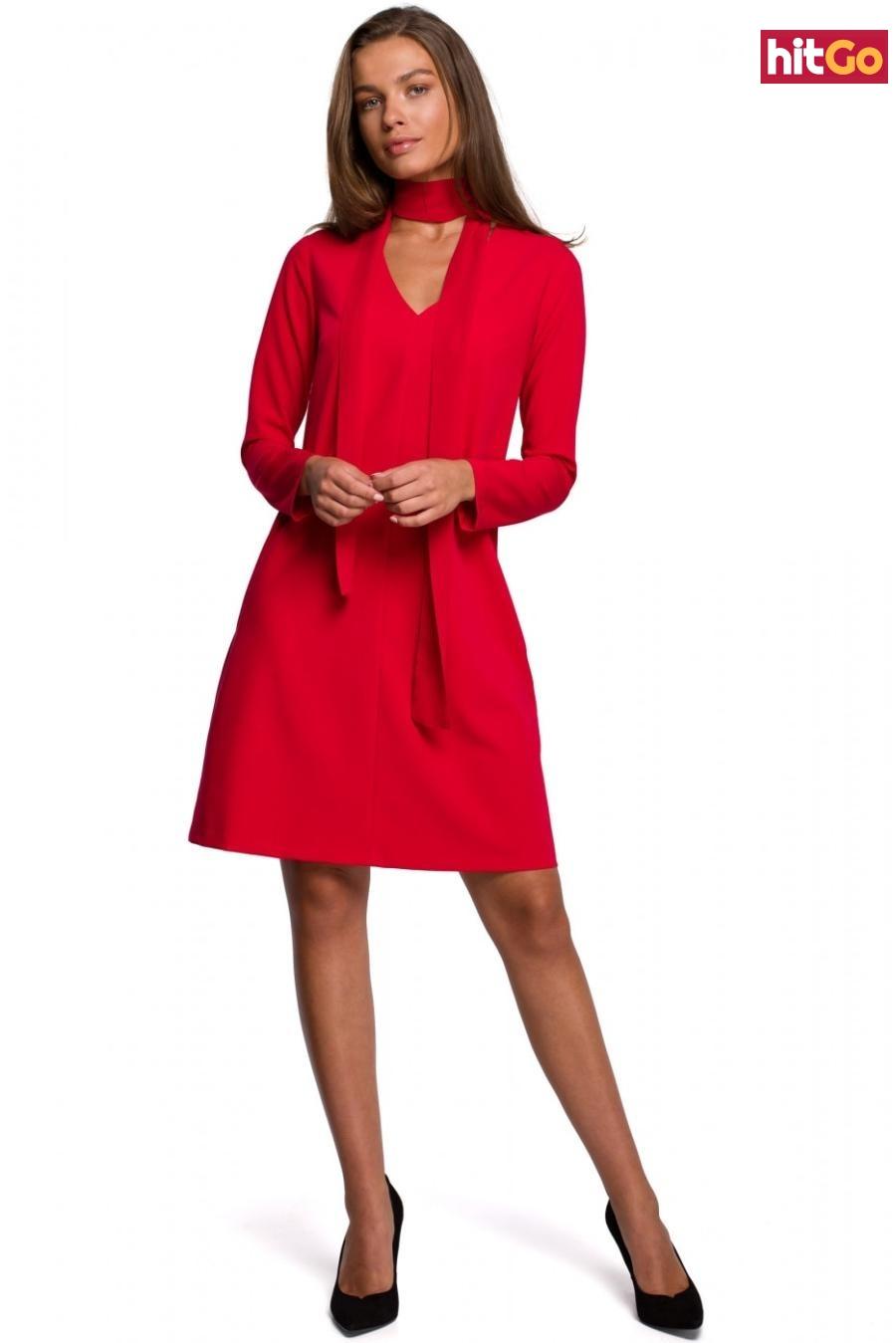 Stylove Womans Dress S233 dámské Red XXL