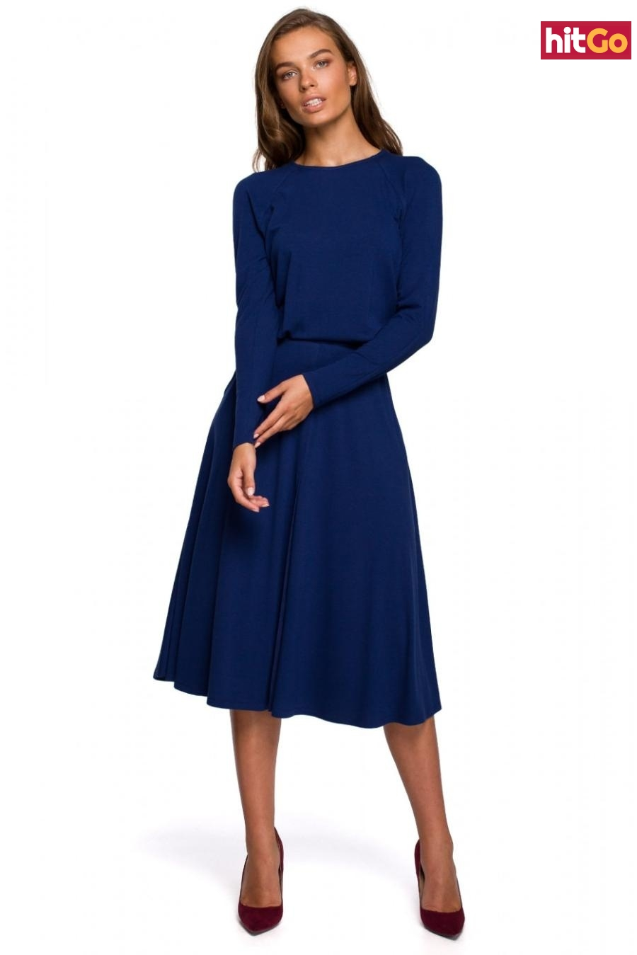 Stylove Womans Dress S234 dámské Deep Blue XL