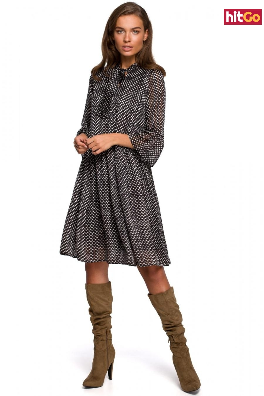 Stylove Womans Dress S237 Model 1 dámské wzorzysty XXL
