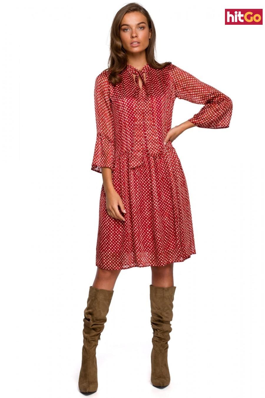 Stylove Womans Dress S237 Model 2 dámské wzorzysty XL