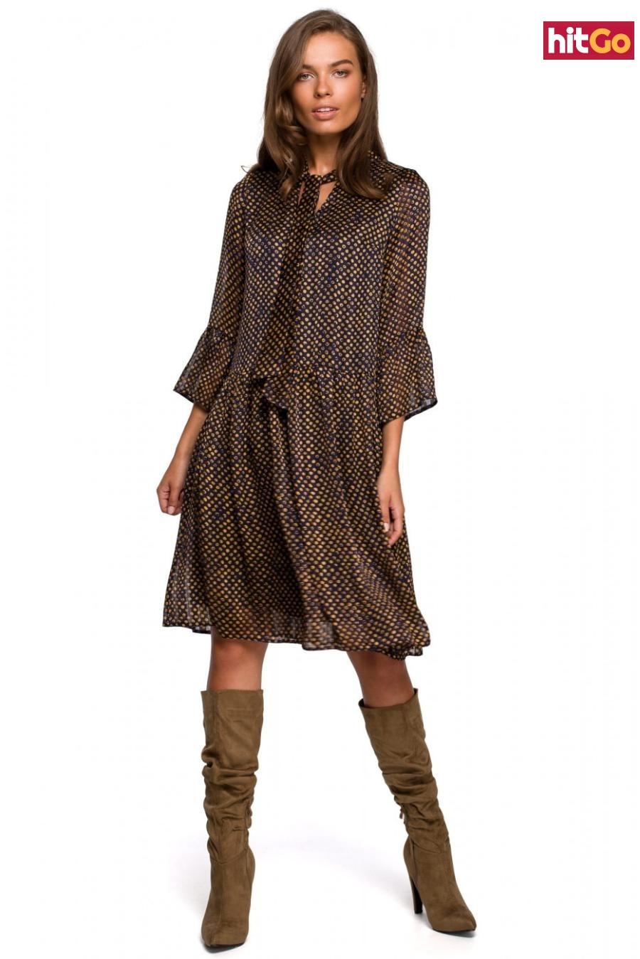 Stylove Womans Dress S237 Model 3 dámské wzorzysty L
