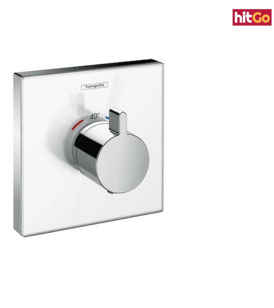 Termostat Hansgrohe Showerselect Glass bez podomítkového tělesa bílá/chrom 15734400 bílá bílá